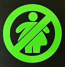 NO FAT CHICKS DECAL STICKER TRUCK VINYL CAR FORD CHEVY DODGE VW JDM HONDA MAZDA