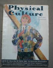 vtg old PHYSICAL CULTURE Magazine fitness exercise body building fashion 1929 ja