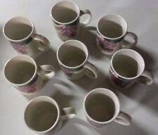 Fairfield Stoneware Grape Valley Ceramic Coffee Mugs set of 8