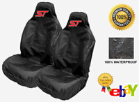 ST - Pair Of Sports Bucket Car Seat Covers Protectors x2 Recaro / FORD FOCUS ST
