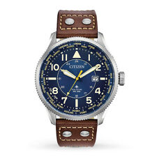 New Citizen Eco-Drive Mens Promaster Nighthawk Analog Blue Dial Watch BX1010-11L