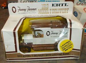 Fanny Farmer Candies 1913 Model T Delivery Ertl Truck Bank