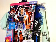 Child Girls MONSTER HIGH FRANKIE STEIN Medium 8-10 Halloween Costume Dress Up