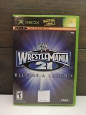 WWE WrestleMania 21 Become a Legend (Microsoft Xbox, 2005) CIB