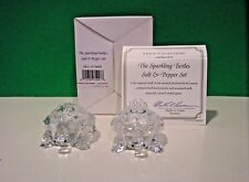 LENOX The SPARKLING CRYSTAL TURTLE SALT and PEPPER set NEW n BOX with COA