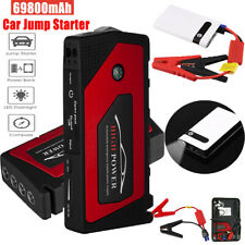 69800/20000mAh Car Jump Starter 12V Portable Power Bank Battery Booster Clamp