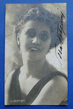 Autografo dell' attrice di cinema muto e teatro Vera Vergani - anni '20