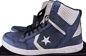Converse John Varvatos JV Weapon Mid Sneaker Suede Leather BLUE 142963C MEN 7.5