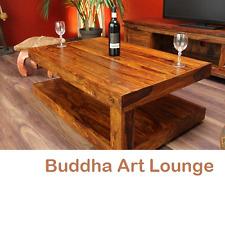 Couchtisch Holz Massiv 110x70x40 Bali Sheesham Tisch Wohnzimmertisch Honigfarben