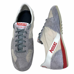 Vintage Avocet Mod 20 Cycling Touring Shoes Men's Sz 6.5 White Gray Suede Taiwan