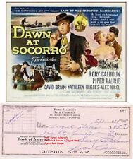 RORY CALHOUN   AMERICAN ACTOR  HAND SIGNED BANK CHEQUE  CHECK  1964  A RARE ITEM