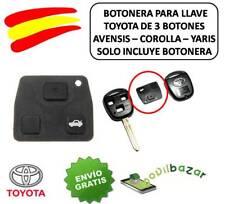 BOTONERA BOTONES LLAVE CARCASA TOYOTA 3 BOTONES. AVENSIS COROLLA YARIS