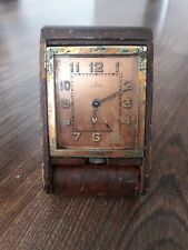 Jeager le coultre 8 Day Travel Clock Turler Switzerland Bern 1930s alarm clock