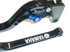 YAMAHA MT-09 LONG BLACK BRAKE & CLUTCH LEVERS SET RACE TRACK ENGRAVED R15E3