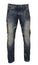 Copper Rivet Men's Skinny Dirt Tint Vintage Wash Long Jeans Sizes 32 - 42