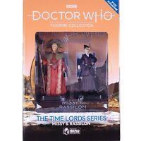 Doctor Who Time Lords MISSY and RASSILON Figurines Set #5 Eaglemoss