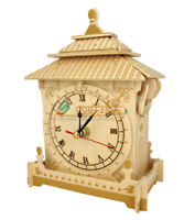 3D Model Kit Puzzle Toys DIY Pendulum Clock Woodcraft Construction Wooden Toy