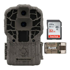 Stealth Cam DS4K Max 32MP Trail Camera with 32GB SD Card and Card Reader