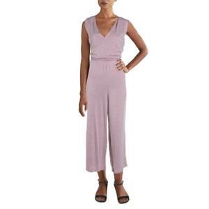 Alternative Womens Pink Knit Cropped Wide Leg Jumpsuit M BHFO 5484