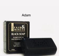 Fair & White Black Soap & With Cocoa Butter V E 100% Plant 7 oz+ FREE SHIPPING
