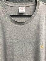 🔥🧔Brooks Brothers Men's Short Sleeve T-Shirt Size 2XL Gray🔥🧔