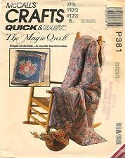 Vintage 1992 McCall's Craft # P381 Sewing Pattern: The Magic Quilt