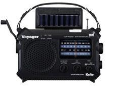 Kaito KA500 Voyager Emergency Radio Solar Crank With Free AC Adapter - Black