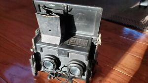 ERNEMANN  DRESDEN Folding Stereo Stereoscopic Camera Ernon lenses