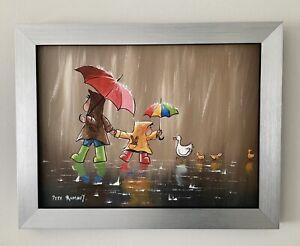 Pete Rumney - Original Painting, 'Cheeky Ducklings' Framed.