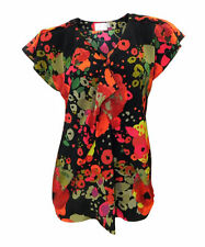 Festliche hüftlange Damenblusen, - tops & -shirts mit V-Ausschnitt aus Polyester