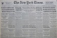 4-1934 April 26 DILLINGER GANG TRAIL FADES - GANGSTER MOB NY TIMES FDR HOOVER