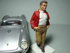 JAMES  DEAN  1/18  UNPAINTED  FIGURE  MADE  BY  VROOM  FOR  PORSCHE  550  SPYDER