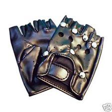 Black Studded Punk Gloves, 1980's, Gangsters, Villains, Fancy Dress, Plays 22634