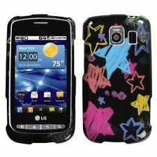 Black Chalk Star Hard Case Cover for LG Vortex VS660