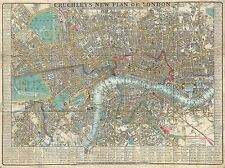 GEOGRAPHY MAP ILLUSTRATED ANTIQUE CRUTCHLEY LONDON POSTER ART PRINT BB4303A
