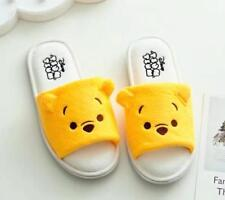 Cute Winnie The Pooh Women Girl Summer Home Plush Slippers Shoes (US size 6-8)