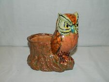 1994 HOLLAND FLORAL POTTERY OWL PLANTER