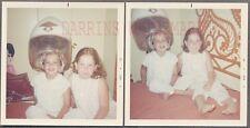 Vintage 1969 Photos Cute Girls in Curlers in BIG Hair Dryer 748210
