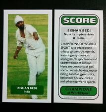 Cricket - BISHAN BEDI - INDIA - Score Champions of World Sport trade card