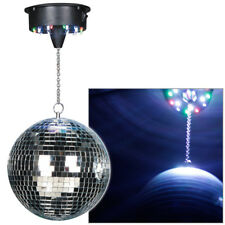 "Cheetah G017KM 8"" Mirror Glitter Ball Hanging Disco light with LEDs and motor"