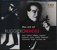 The Art Of Ruggiero Ricci CD NEW 5-disc Bach Brahms Sibelius
