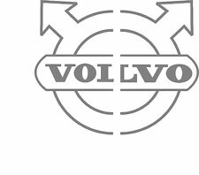 Volvo truck cab half split roundel logo stickers (pair) good for glass or body