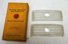 NOS 1947 1948 Kaiser Frazer Clear Glass Parking Lens (Pair) 200856 PISCES