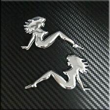 Car Sexy Girl (small) Truck  Badge Chrome Emblem Sticker Side Badge 2pcs set