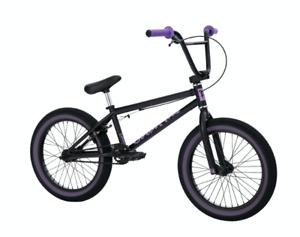 "2021 FIT BIKE CO MISFIT 18 INCH COMPLETE BMX BIKE MATTE BLACK 18"" CULT PURPLE"