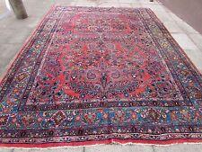 Antico Tradizionale Persiano Lana Rosa Fatto a Mano Orientale Grande Tappeto 360x266cm