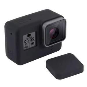 AMZER Silicone Case w/ Lens Cover for GoPro HERO7 Black/White/Silver/6/5 - Black