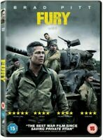 FURY DVD, Brad Pitt. War Film, 5*  New & Sealed. Fast Delivery!