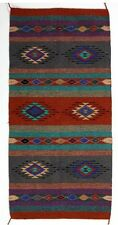 "New Handwoven Azteca Rug 20"" x 40"" High Quality!"