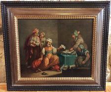 Barockgemälde des 18 JHD. Orientalist Öl LWD. 54x48 cm